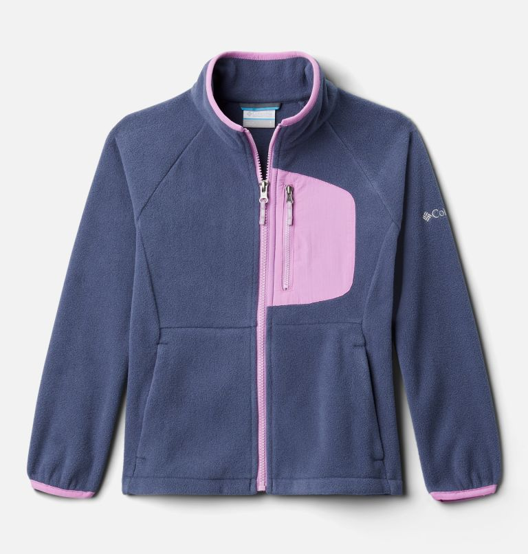 Fast Trek™ III Fleece Full Zip | 467 | L Youth Fast Trek™ III Fleece Full Zip, Nocturnal, Blossom Pink, front