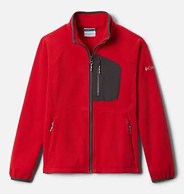 Youth Fast Trek™ III Fleece Full Zip Fast Trek™ III Fleece Full Zip | 386 | XS, Mountain Red, Shark, front