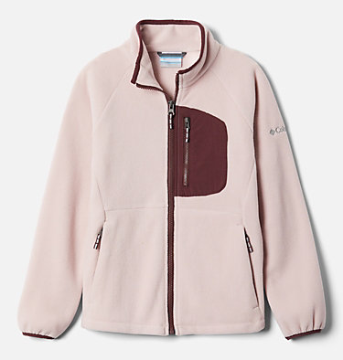 Youth Fast Trek™ III Fleece Full Zip Fast Trek™ III Fleece Full Zip | 386 | XS, Mineral Pink, Malbec, front