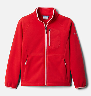 Youth Fast Trek™ III Fleece Full Zip Fast Trek™ III Fleece Full Zip | 386 | XS, Red Lily, Pink Orchid, front
