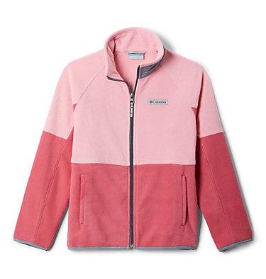 Kids' Basin Trail™ Branded Full Zip Fleece Basin Trail™Branded Full Zip Fleece   011   L, Rouge Pink, Pink Orchid, Grey Ash, front