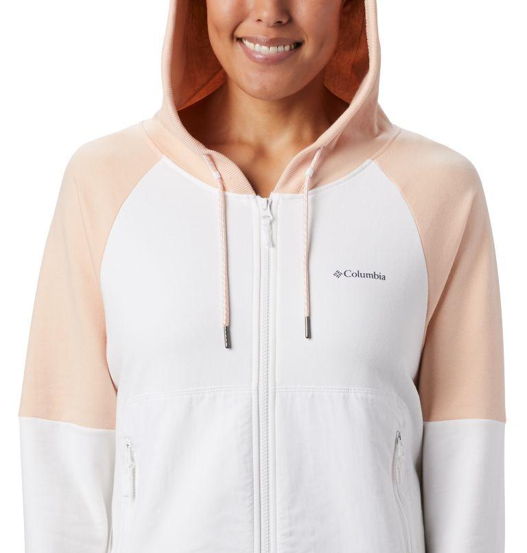 Columbia Lodge™ II FZ | 100 | L Women's Columbia Lodge™ II Full Zip Hoodie, White, Peach Cloud, a2