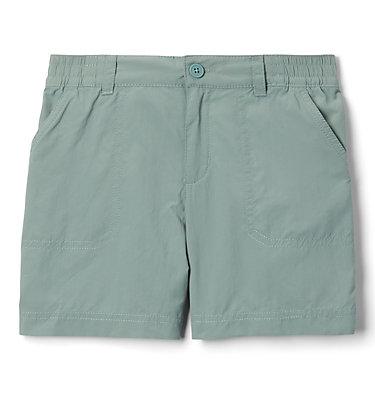 Girls' Silver Ridge™ IV Shorts Silver Ridge™IV Short | 466 | L, Light Lichen, front