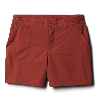 Girls' Silver Ridge™ IV Shorts Silver Ridge™IV Short | 638 | L, Dusty Crimson, front