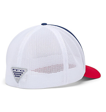PFG Mesh™ Ball Cap XXL PFG Mesh™ Ball Cap XXL | 221 | O/S, Carbon, Red Spark, Fish Flag, back
