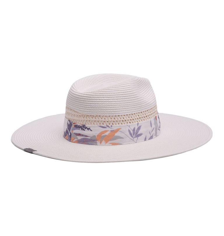 Bella Falls™ Straw Hat | 100 | L/XL Women's Bella Falls™ Straw Hat, White, Magnolia Floral Print, back