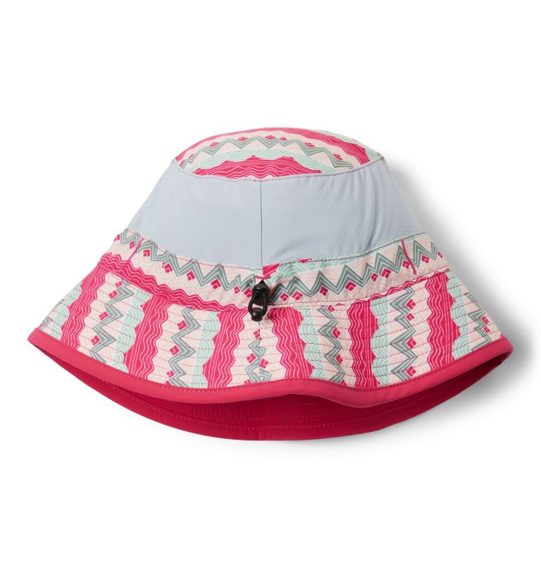 Youth Booney | 612 | O/S Kids' Booney Hat, Cactus Pink Striped Peaks, Cactus Pink, back