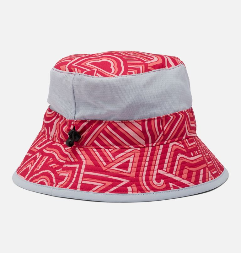 Youth Booney | 615 | O/S Kids' Booney Hat, Cactus Pink, Geo Print, back