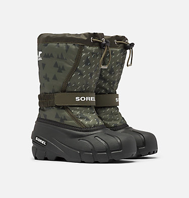 Youth Flurry™ Print Boot YOUTH FLURRY™ PRINT | 541 | 1, Slate Green, 3/4 front
