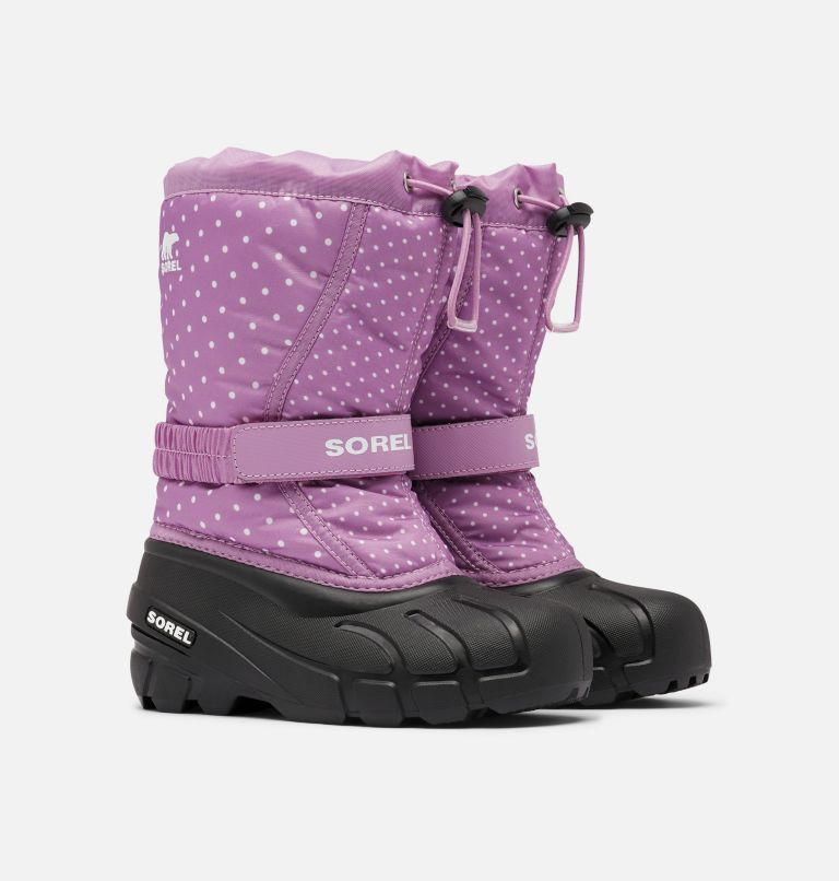 YOUTH FLURRY™ PRINT   541   4 Youth Flurry™ Print Boot, Violet Haze, 3/4 front