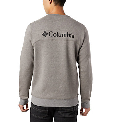 Men's Columbia Lodge™ Double Knit Sweatshirt Columbia Lodge™ Dbl Knit Sweatshirt | 030 | L, Charcoal Heather, Black, back