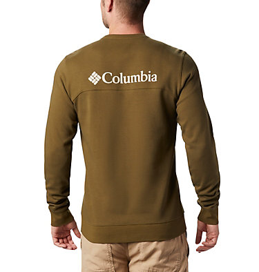Men's Columbia Lodge™ Double Knit Sweatshirt Columbia Lodge™ Dbl Knit Sweatshirt | 030 | L, New Olive, Fossil, back
