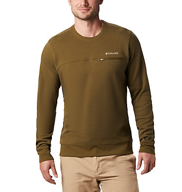Men's Columbia Lodge™ Double Knit Sweatshirt Columbia Lodge™ Dbl Knit Sweatshirt | 030 | L, New Olive, Fossil, front