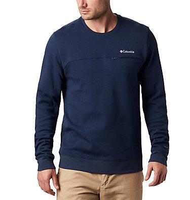 Men's Columbia Lodge™ Double Knit Sweatshirt Columbia Lodge™ Dbl Knit Sweatshirt   030   M, Collegiate Navy, White, front