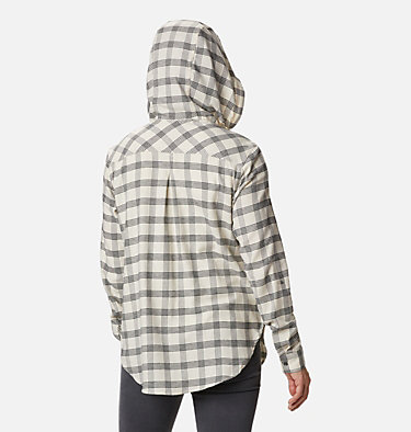 Women's Anytime™ Stretch Hooded Long Sleeve Shirt Anytime™ Stretch Hooded LS Shirt | 619 | L, Chalk Houndstooth, back