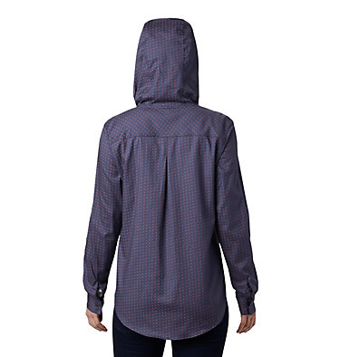 Women's Anytime™ Stretch Hooded Long Sleeve Shirt Anytime™ Stretch Hooded LS Shirt | 619 | L, Nocturnal Ditsy Dot Print, back
