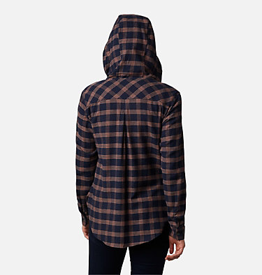 Women's Anytime™ Stretch Hooded Long Sleeve Shirt Anytime™ Stretch Hooded LS Shirt | 619 | L, Dark Nocturnal Houndstooth, back