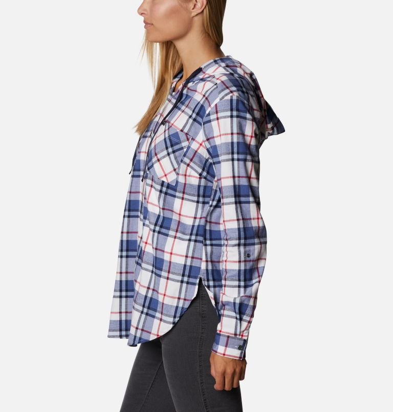 Women's Americana Anytime™ Stretch Hooded Long Sleeve Shirt Women's Americana Anytime™ Stretch Hooded Long Sleeve Shirt, a1