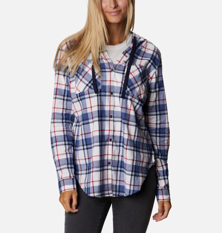 Women's Americana Anytime™ Stretch Hooded Long Sleeve Shirt Women's Americana Anytime™ Stretch Hooded Long Sleeve Shirt, front
