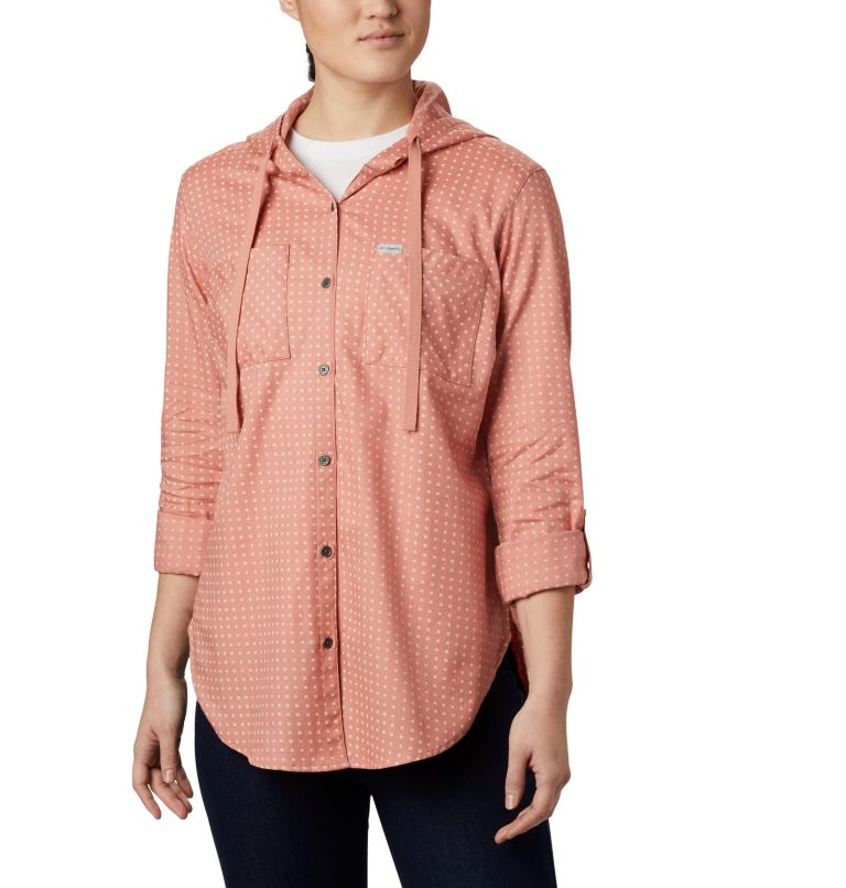 Women's Anytime™ Stretch Hooded Long Sleeve Shirt Women's Anytime™ Stretch Hooded Long Sleeve Shirt, a1