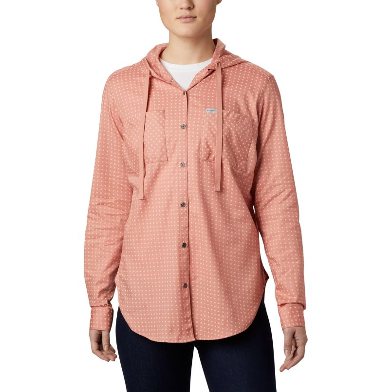 Women's Anytime™ Stretch Hooded Long Sleeve Shirt Women's Anytime™ Stretch Hooded Long Sleeve Shirt, front