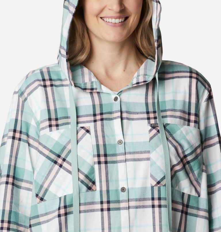 Women's Anytime™ Stretch Hooded Long Sleeve Shirt - Plus Size Women's Anytime™ Stretch Hooded Long Sleeve Shirt - Plus Size, a2