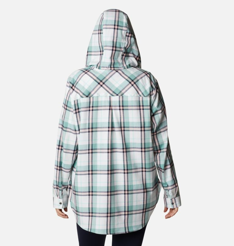 Women's Anytime™ Stretch Hooded Long Sleeve Shirt - Plus Size Women's Anytime™ Stretch Hooded Long Sleeve Shirt - Plus Size, back