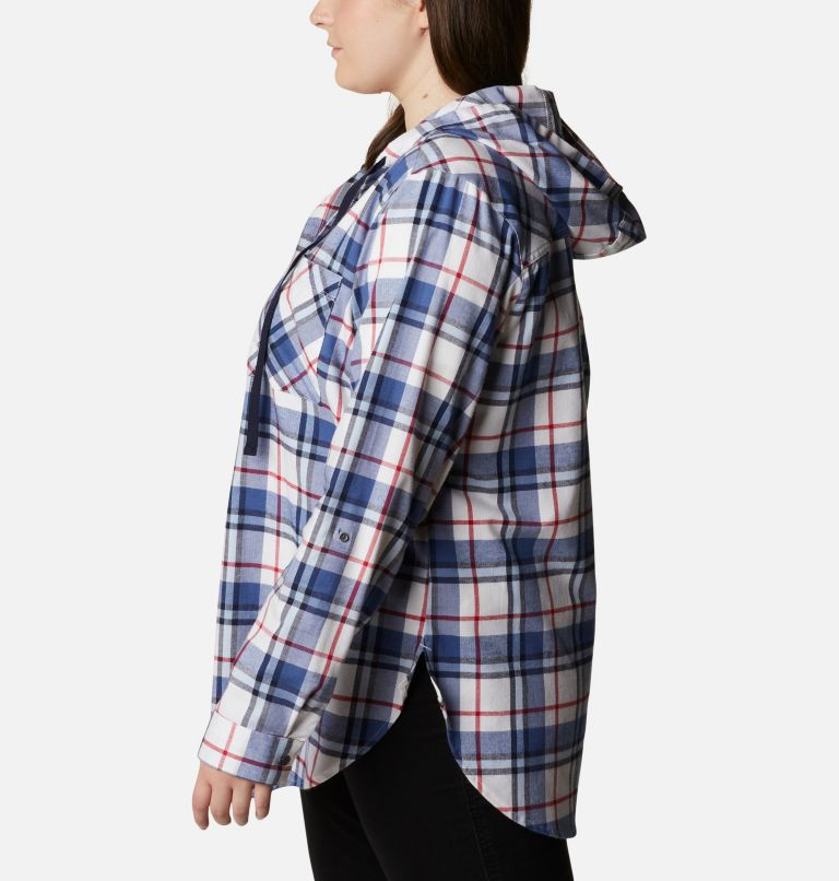 Women's Americana Anytime™ Stretch Hooded Long Sleeve Shirt - Plus Size Women's Americana Anytime™ Stretch Hooded Long Sleeve Shirt - Plus Size, a1