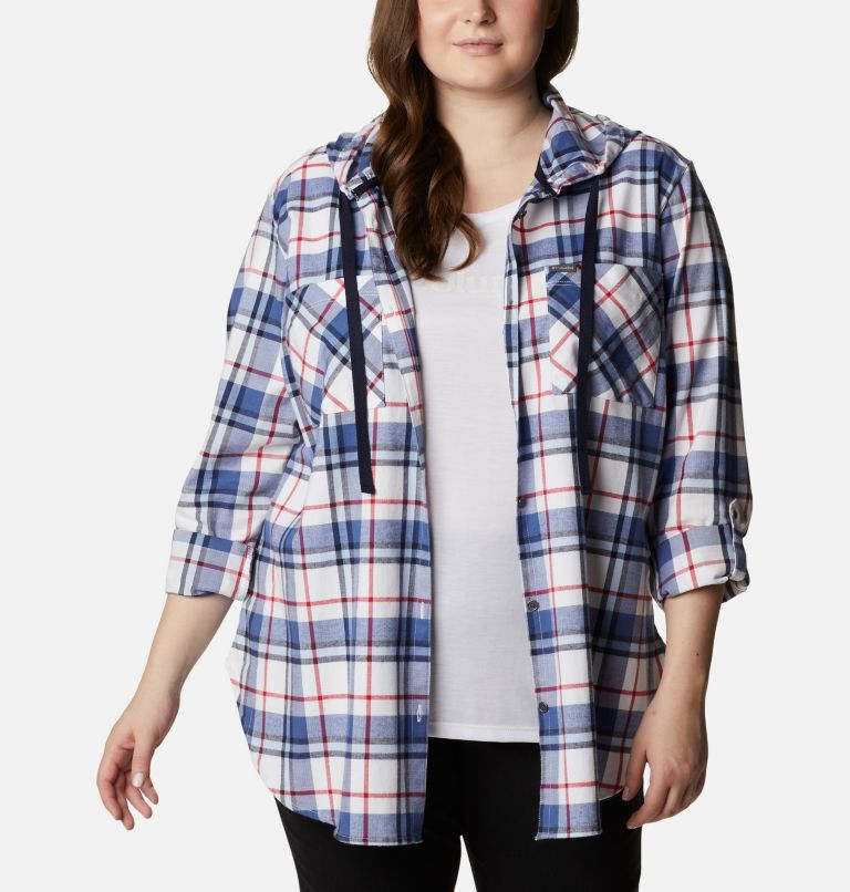 Women's Americana Anytime™ Stretch Hooded Long Sleeve Shirt - Plus Size Women's Americana Anytime™ Stretch Hooded Long Sleeve Shirt - Plus Size, a5