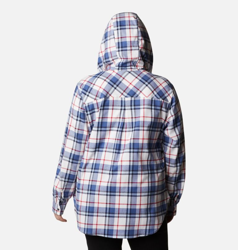 Women's Americana Anytime™ Stretch Hooded Long Sleeve Shirt - Plus Size Women's Americana Anytime™ Stretch Hooded Long Sleeve Shirt - Plus Size, back