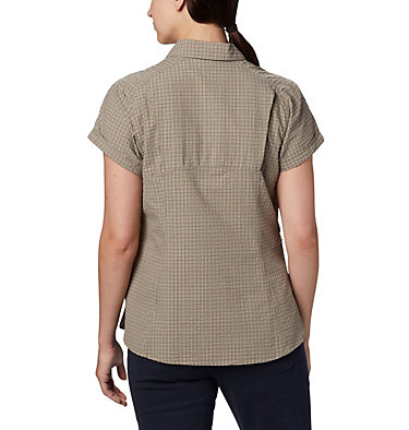 Women's Silver Ridge™ Novelty Short Sleeve Shirt Silver Ridge™ Novelty SS Shirt | 383 | L, Sage Seersucker, back