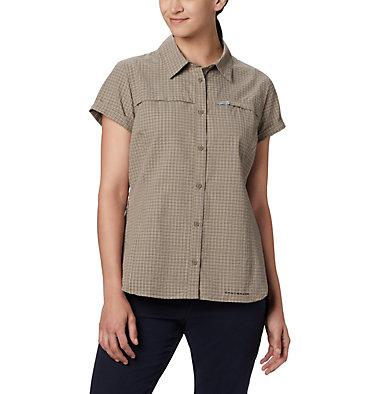Women's Silver Ridge™ Novelty Short Sleeve Shirt Silver Ridge™ Novelty SS Shirt | 383 | L, Sage Seersucker, front