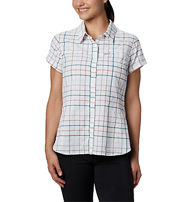 Women's Silver Ridge™ Novelty Short Sleeve Shirt Silver Ridge™ Novelty SS Shirt | 383 | L, Light Mint Windowpane, front