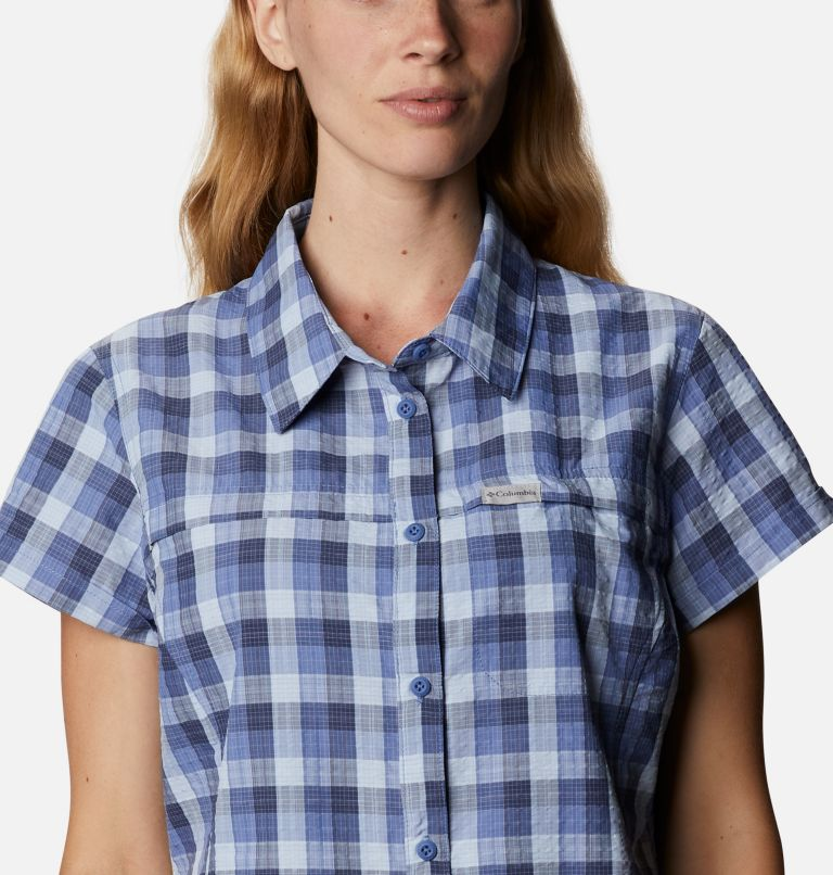 Silver Ridge™ Novelty SS Shirt | 458 | XXL Women's Silver Ridge™ Novelty Short Sleeve Shirt, Velvet Cove Gingham, a2