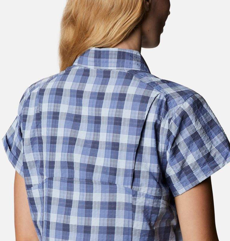 Silver Ridge™ Novelty SS Shirt | 458 | XXL Women's Silver Ridge™ Novelty Short Sleeve Shirt, Velvet Cove Gingham, a3