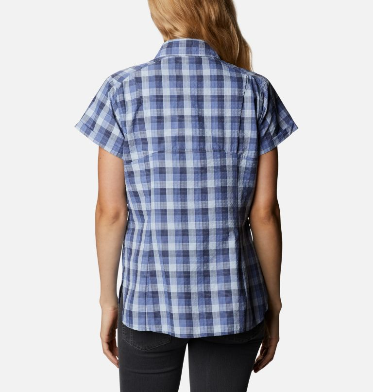 Silver Ridge™ Novelty SS Shirt | 458 | XXL Women's Silver Ridge™ Novelty Short Sleeve Shirt, Velvet Cove Gingham, back