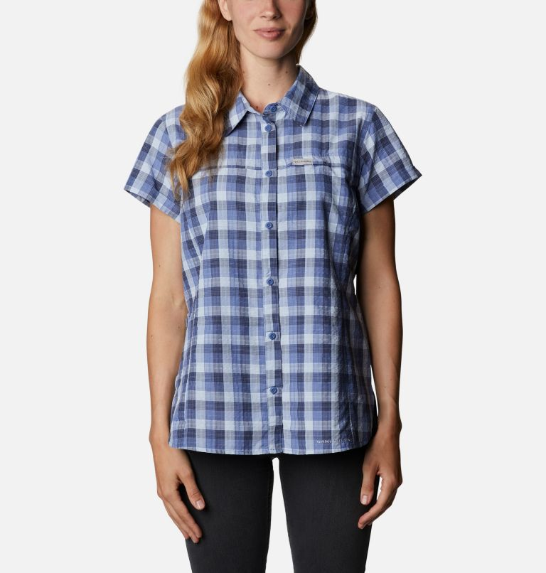 Silver Ridge™ Novelty SS Shirt | 458 | XXL Women's Silver Ridge™ Novelty Short Sleeve Shirt, Velvet Cove Gingham, front