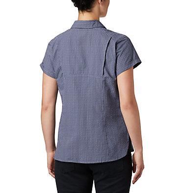 Women's Silver Ridge™ Novelty Short Sleeve Shirt Silver Ridge™ Novelty SS Shirt | 383 | L, New Moon Seersucker, back