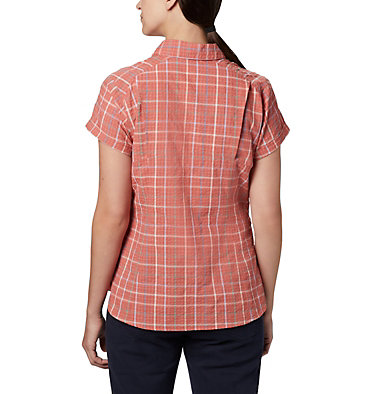 Women's Silver Ridge™ Novelty Short Sleeve Shirt Silver Ridge™ Novelty SS Shirt | 383 | L, Dark Coral Windowpane, back