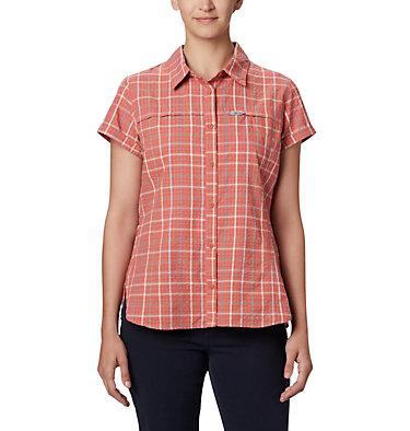 Women's Silver Ridge™ Novelty Short Sleeve Shirt Silver Ridge™ Novelty SS Shirt | 383 | L, Dark Coral Windowpane, front