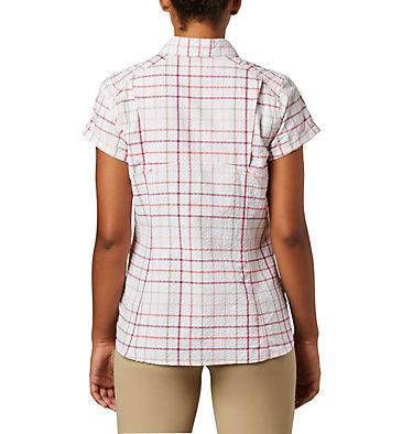 Women's Silver Ridge™ Novelty Short Sleeve Shirt Silver Ridge™ Novelty SS Shirt | 847 | L, Bright Poppy Windowpane, back