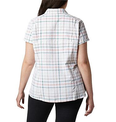 Women's Silver Ridge™ Novelty Short Sleeve Shirt - Plus Silver Ridge™ Novelty SS Shirt | 639 | 1X, Light Mint Windowpane, back