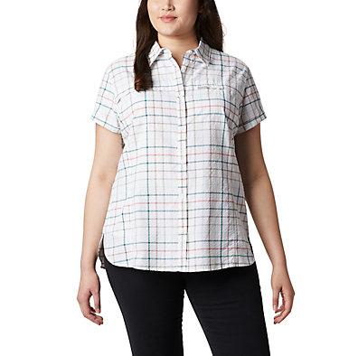 Women's Silver Ridge™ Novelty Short Sleeve Shirt - Plus Silver Ridge™ Novelty SS Shirt | 639 | 1X, Light Mint Windowpane, front