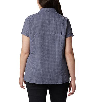 Women's Silver Ridge™ Novelty Short Sleeve Shirt - Plus Silver Ridge™ Novelty SS Shirt | 639 | 1X, New Moon Seersucker, back