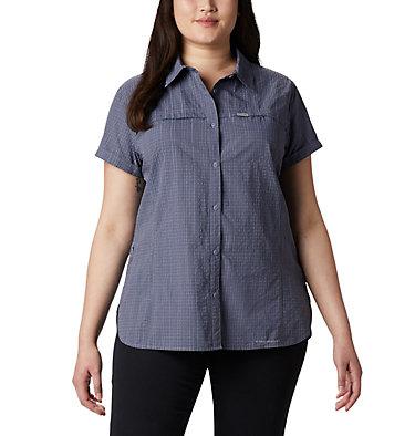 Women's Silver Ridge™ Novelty Short Sleeve Shirt - Plus Silver Ridge™ Novelty SS Shirt | 639 | 1X, New Moon Seersucker, front