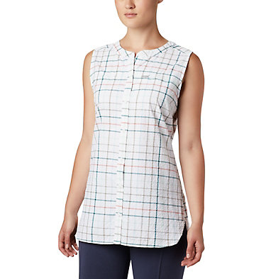 Tunique originale Silver Ridge™ pour femme Silver Ridge™ Novelty Tunic | 032 | L, Light Mint Windowpane, front