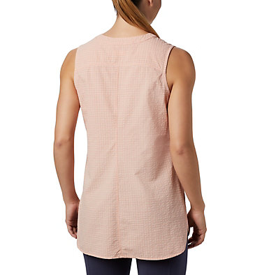Tunique originale Silver Ridge™ pour femme Silver Ridge™ Novelty Tunic | 032 | L, Peach Cloud Seersucker, back