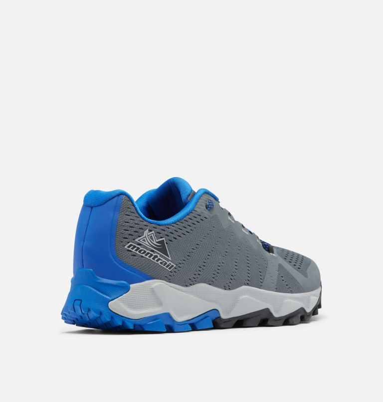 TRANS ALPS™ F.K.T. III | 053 | 13 Men's Trans Alps™ F.K.T.™ III Trail Running Shoe, Graphite, Cobalt Blue, 3/4 back