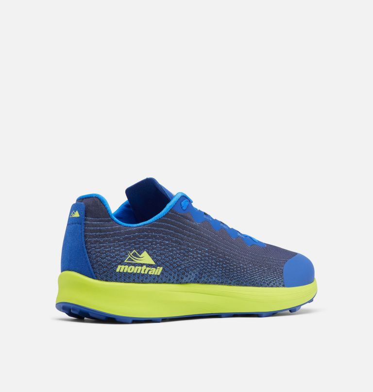 COLUMBIA MONTRAIL F.K.T.™ LITE | 465 | 12 Men's F.K.T.™ Lite Trail Running Shoe, Aviation, Acid Green, 3/4 back