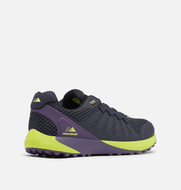 COLUMBIA MONTRAIL F.K.T.™ | 444 | 11.5 Men's Columbia Montrail F.K.T.™ Trail Running Shoe, Extreme Midnight, Acid Green, 3/4 back